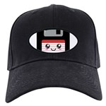 Cute Floppy Disk (Red) Black Cap