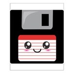 Cute Floppy Disk (Red) Small Poster