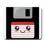 Cute Floppy Disk (Red) Mousepad
