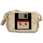 Cute Floppy Disk (Red) Messenger Bag