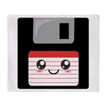 Cute Floppy Disk (Red) Throw Blanket