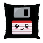 Cute Floppy Disk (Red) Throw Pillow