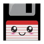 Cute Floppy Disk (Red) Tile Coaster