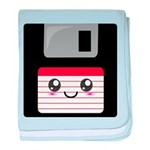 Cute Floppy Disk (Red) baby blanket