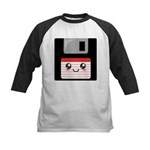 Cute Floppy Disk (Red) Kids Baseball Jersey