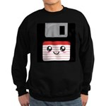 Cute Floppy Disk (Red) Sweatshirt (dark)