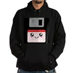 Cute Floppy Disk (Red) Hoodie (dark)