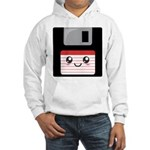 Cute Floppy Disk (Red) Hooded Sweatshirt