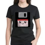 Cute Floppy Disk (Red) Women's Dark T-Shirt