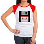 Cute Floppy Disk (Red) Women's Cap Sleeve T-Shirt