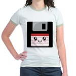 Cute Floppy Disk (Red) Jr. Ringer T-Shirt