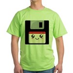 Cute Floppy Disk (Red) Green T-Shirt