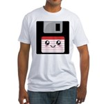 Cute Floppy Disk (Red) Fitted T-Shirt