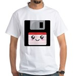 Cute Floppy Disk (Red) White T-Shirt