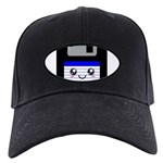 Kawaii Floppy Disk (Blue) Black Cap
