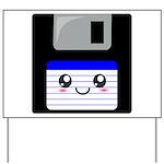Kawaii Floppy Disk (Blue) Yard Sign