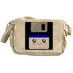 Kawaii Floppy Disk (Blue) Messenger Bag