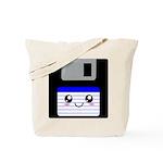 Kawaii Floppy Disk (Blue) Tote Bag