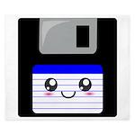 Kawaii Floppy Disk (Blue) King Duvet