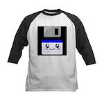 Kawaii Floppy Disk (Blue) Kids Baseball Jersey