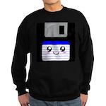Kawaii Floppy Disk (Blue) Sweatshirt (dark)