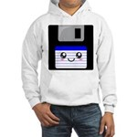 Kawaii Floppy Disk (Blue) Hooded Sweatshirt