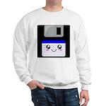 Kawaii Floppy Disk (Blue) Sweatshirt