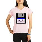Kawaii Floppy Disk (Blue) Performance Dry T-Shirt