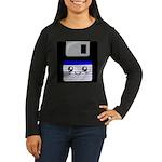 Kawaii Floppy Disk (Blue) Women's Long Sleeve Dark
