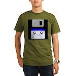Kawaii Floppy Disk (Blue) Organic Men's T-Shirt (d