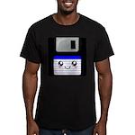 Kawaii Floppy Disk (Blue) Men's Fitted T-Shirt (da