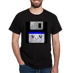 Kawaii Floppy Disk (Blue) Dark T-Shirt