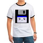 Kawaii Floppy Disk (Blue) Ringer T
