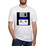 Kawaii Floppy Disk (Blue) Fitted T-Shirt