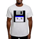 Kawaii Floppy Disk (Blue) Light T-Shirt