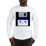 Kawaii Floppy Disk (Blue) Long Sleeve T-Shirt