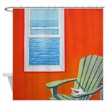 Window Sea Shell Art Shower Curtain