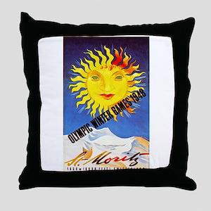 Switzerland Travel Poster 6 Throw Pillow