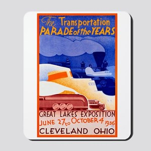 Cleveland Travel Poster 1 Mousepad