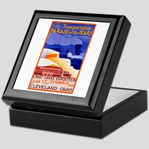 Cleveland Travel Poster 1 Keepsake Box