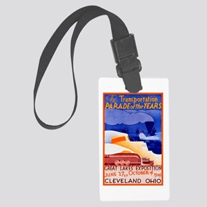 Cleveland Travel Poster 1 Large Luggage Tag