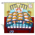 Cat Quilt Funny Shower Curtain