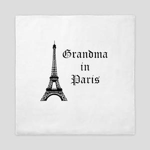 Grandma in Paris Queen Duvet
