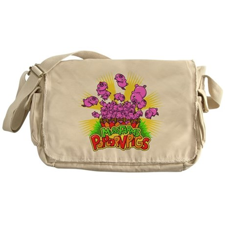 Popcorn Pigs Messenger Bag