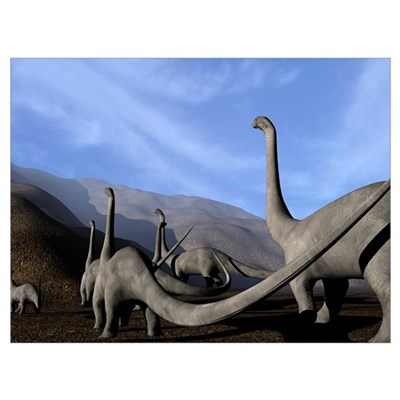 Sauropod dinosaurs Poster