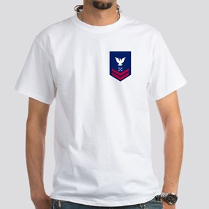 USCG Reserve BM2<BR> White T-Shirt