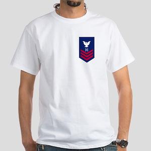 USCG Reserve BM1<BR> White T-Shirt