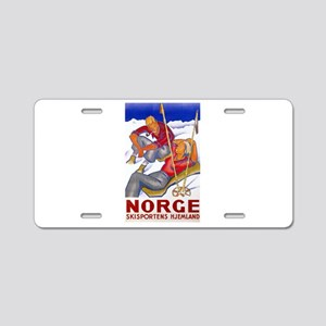 Norway Travel Poster 1 Aluminum License Plate