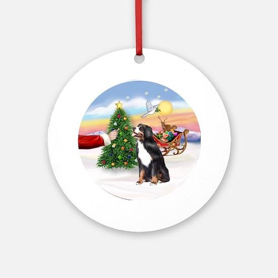 Santa's Treat - Bernese Mt. Dog Ornament (Round)