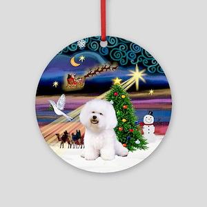 Xmas Magic Bichon Ornament (Round)